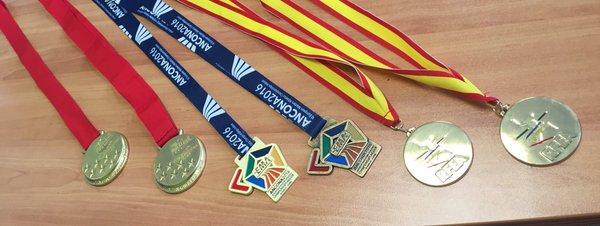 Medallas indoor 2016