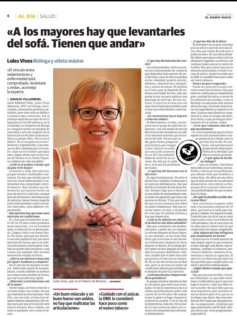 Diario Vasco. Entrevista
