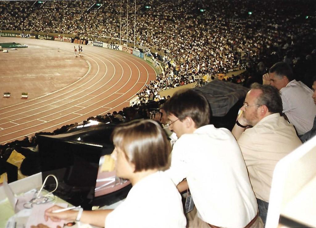 Loles. Tribuna de prensa Estadio. Tokio 91