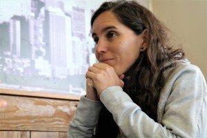Esther Morencos, durante la entrevista